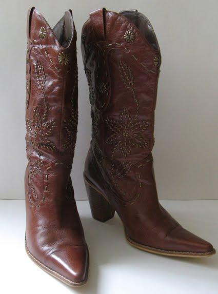 Beautiful Good Closet FRYE TALL BROWN BOOTS COWBOY BOOTS WOMENS SIZE 6