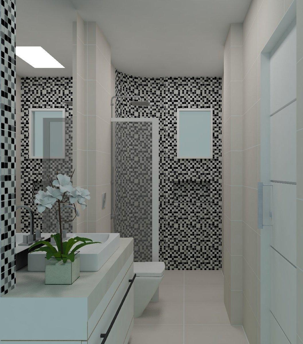 Vocês perceberam que as pastilhas amarelas não cobrem a parede toda  #5A6E71 1057x1200 Banheiro Branco Com Pastilhas Pretas