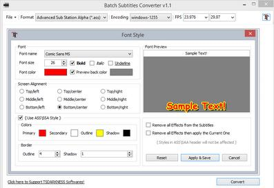 Batch Subtitles Convert : Software Konversi, Sinkronisasi & FPS Subtitle