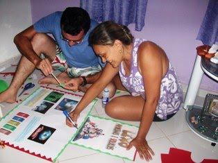 Oficina pedagógica ( Leilany - Adelfranio)  Cartaz  sobre: Lixo problemas e Soluções