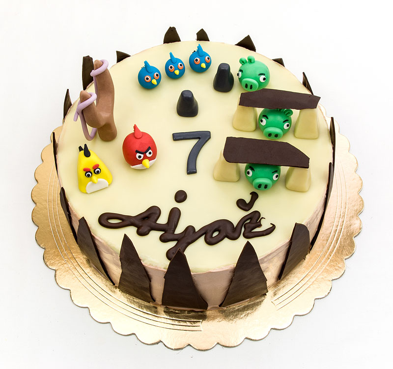 Angry birds chococlate cake fondant toppers top up