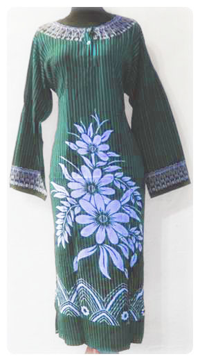 Warna Warni Model Busana Batik Muslim Wanita Muslimah Modern
