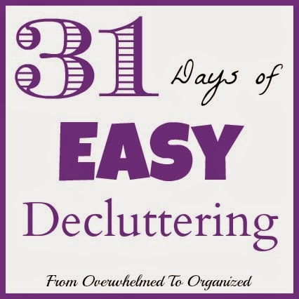 http://fromoverwhelmedtoorganized.blogspot.ca/p/31-days-of-easy-decluttering.html