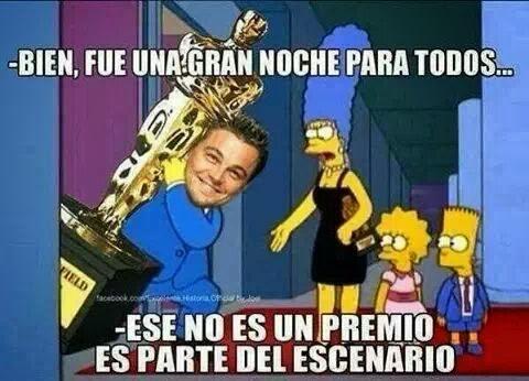 Leonardo DiCaprio y el Oscar - Los Simpson