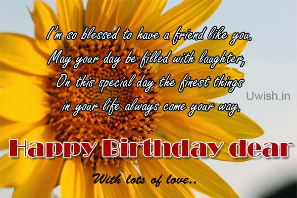 Happy birthday Dear e greetings and wishes, with lots of love.