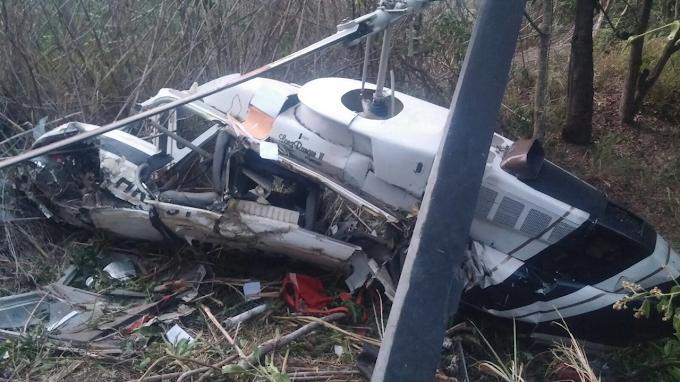 Dos personas heridas dejó accidente de Helicóptero en Boavita