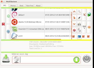 jendela kedua aplikasi multisytem untuk penambahan file instaler atau iso