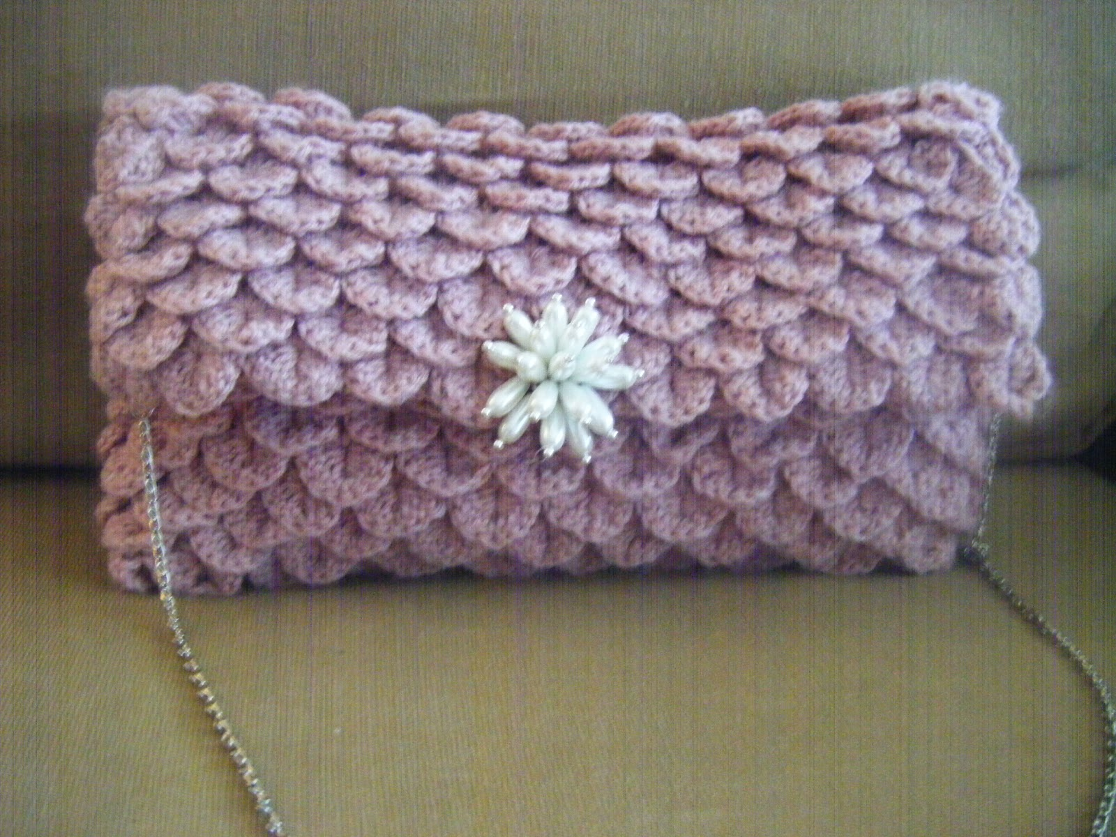 Best Patterns: Clutch Crocodile Oversize Crochet Pattern