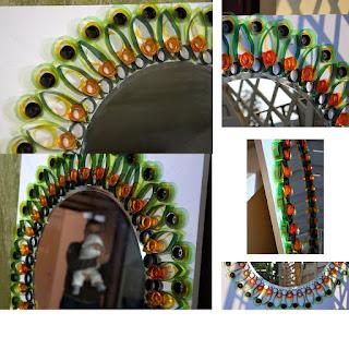 Mis puntadas preferidas espejos decorados con distintos for Espejos pequenos para pegar