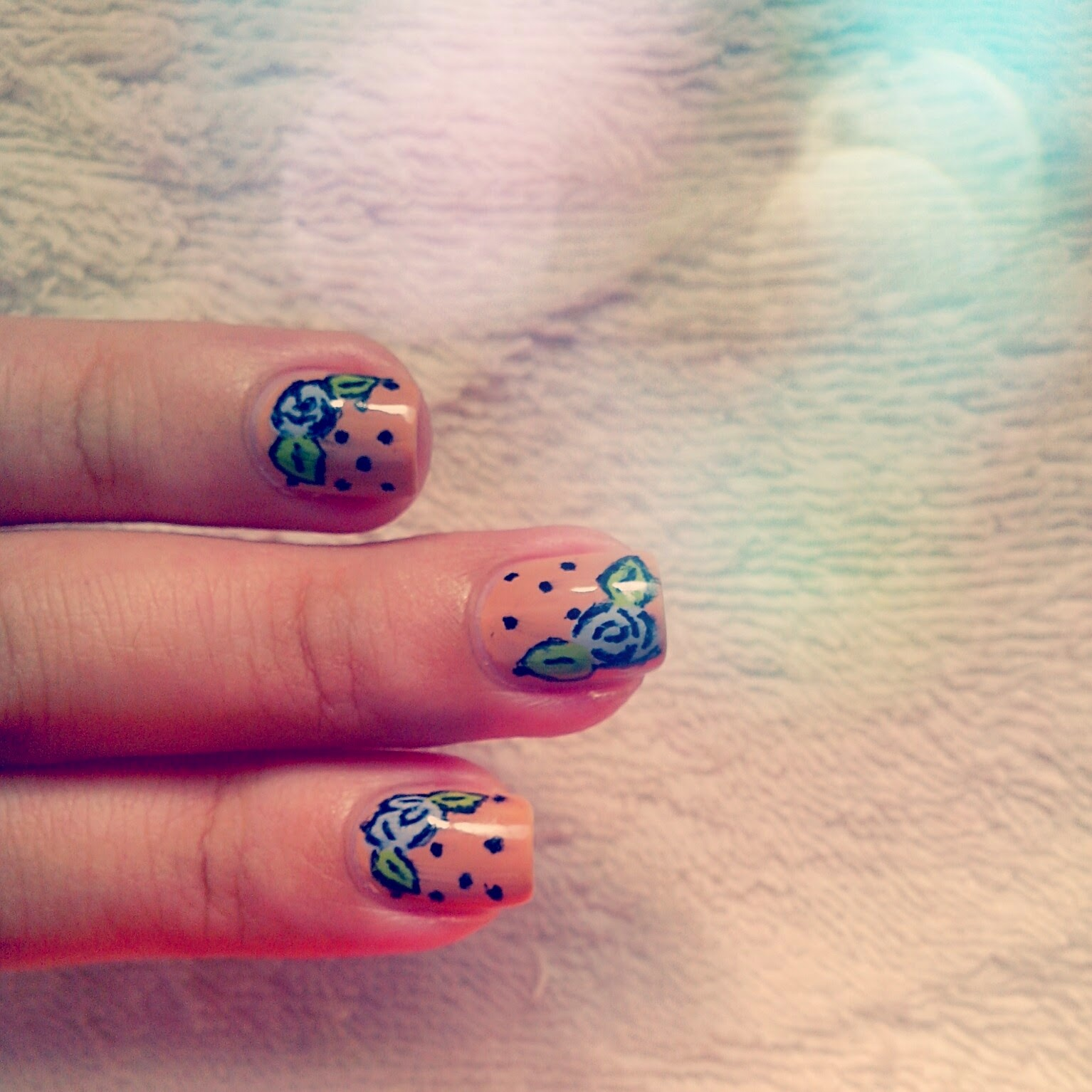 Judys Little Obsessions Nail Art Floral Retro Style