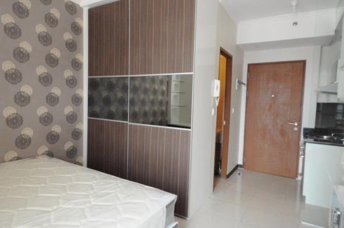 Desain apartemen tipe studio yang elegan for Interior apartemen studio