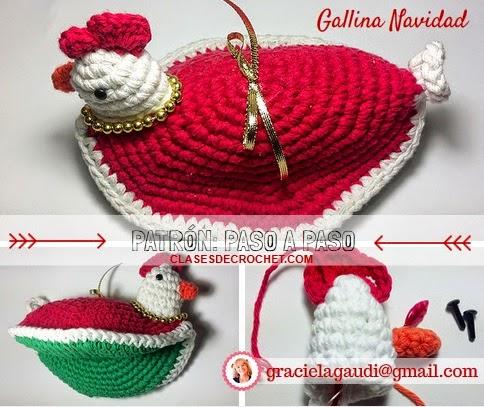 Tejiendo lindo - Graciela Gaudi: Patrones Crochet: Gallina de Navidad