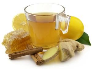 Чай приготовленный с имбирем и медом