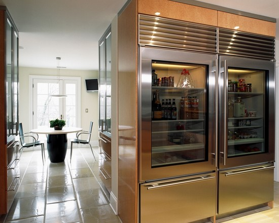 Door with Glass Front Refrigerator