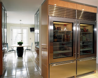 glass refrigerator