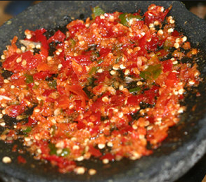Rahasia sambal bawang putih cabe merah mentah enak