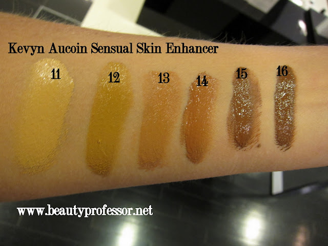 kevyn aucoin sensual skin enhancer swatches