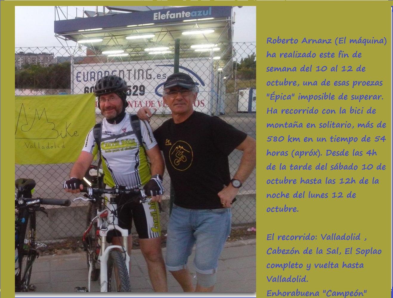 """Ha recorrido 580 km en un fin de semana. Roberto Arnanz, """"Campeón"""""""