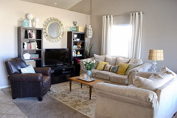Living Room from the Medley of Golden Days Blog
