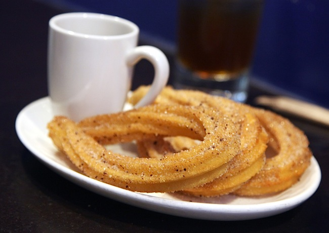 Churros with Aztec Hot Chocolate at Xoco . These were the bomb!