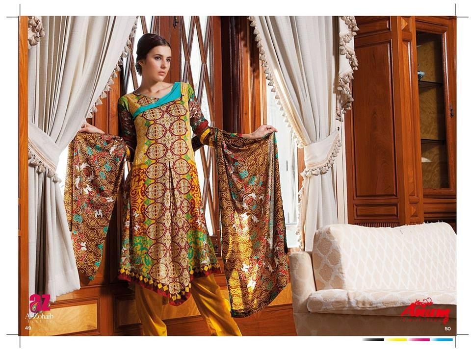 AnumClassicLawnVOL 2ByAl ZohaibTextile 11  - Anum Classic Lawn 2014 Vol-2 By Al-Zohaib Textile