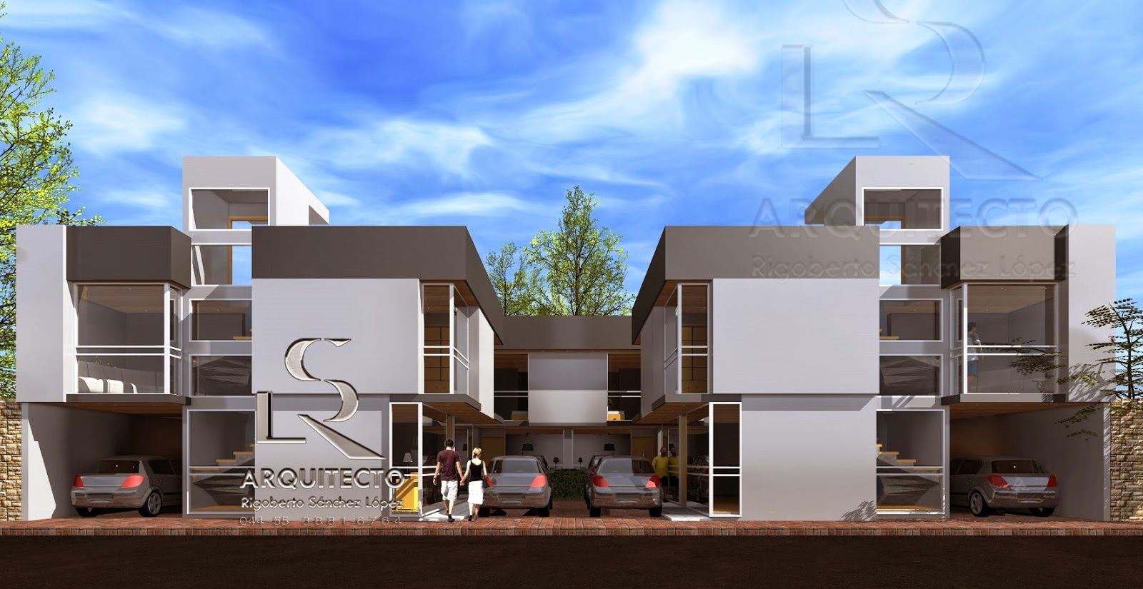 Diseo exteriores w diseo moderno lamparas modernas ip led for Casas modernas recorrido virtual