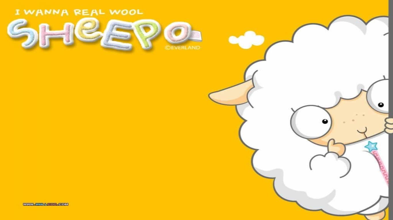 Cartoon sheep wallpaper