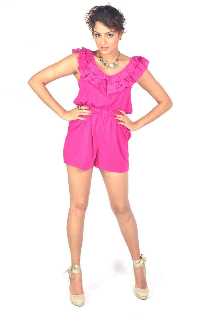 cute naughty beauty Asmita sood in pink short dress photo shoot gallery