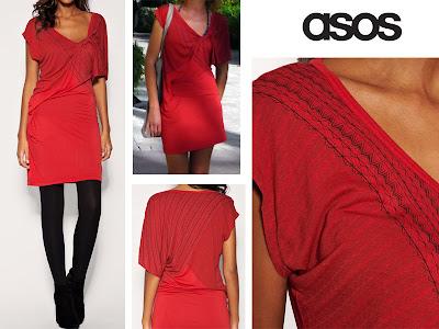 robe rouge asos