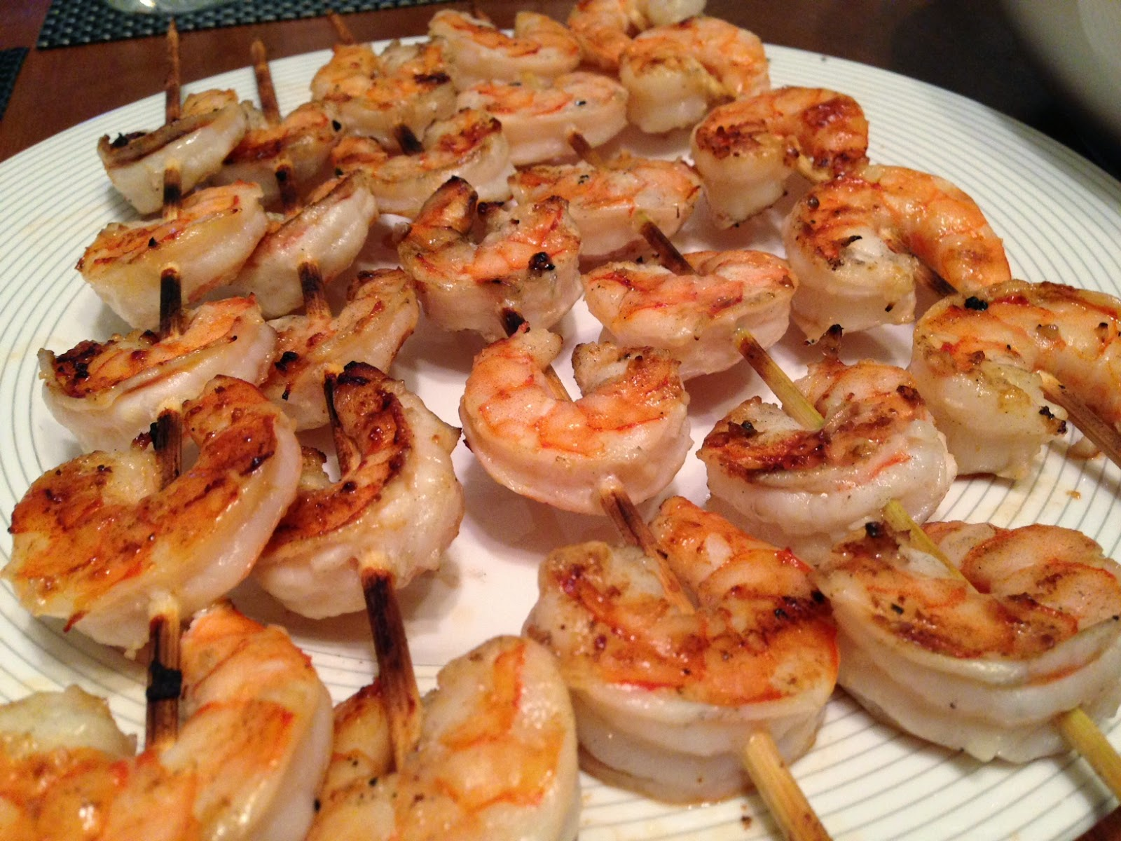 Much Ado About Somethin: Garlic Shrimp Kabobs