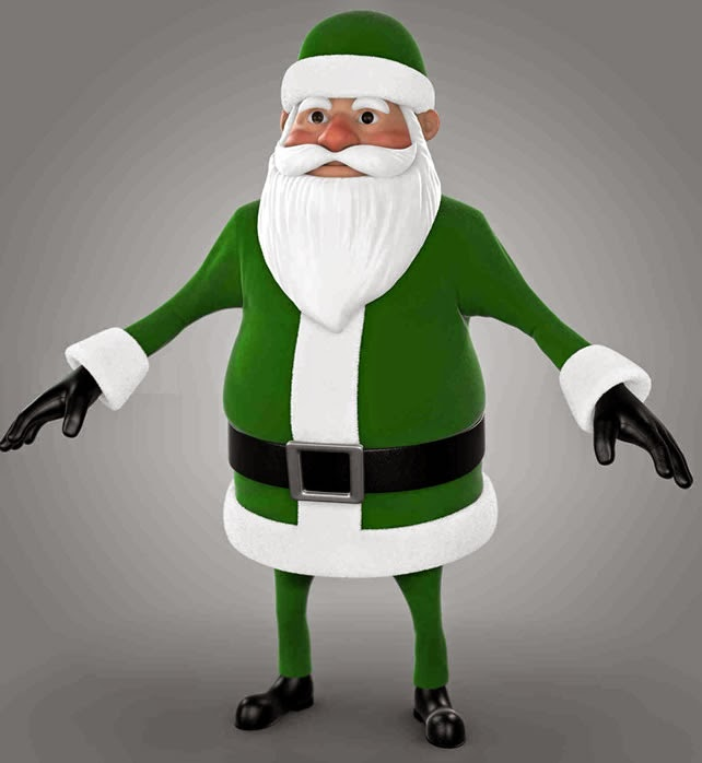 Santa Claus was green before Coca Cola.