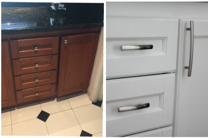 I Also Switched Out The Old Kitchen Hardware, Which Immediately Made Such A  Difference. If You Are Ever Looking To Do A Small Kitchen Update Without ...