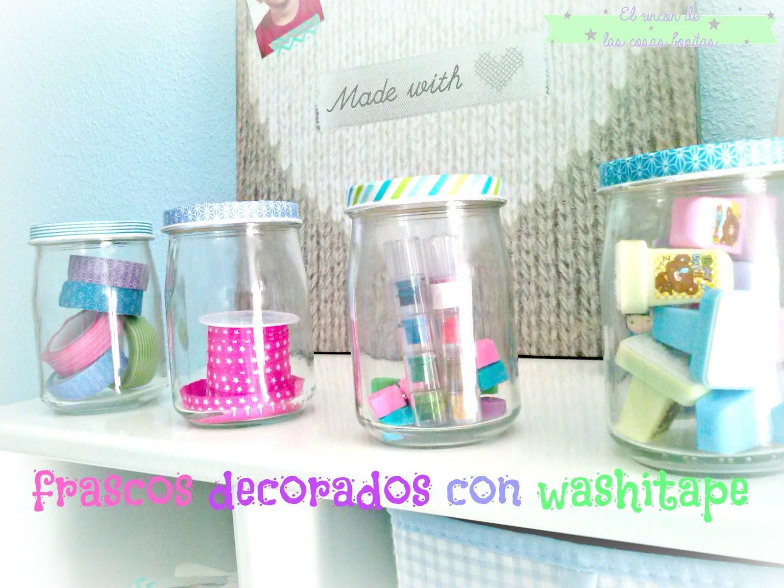 botes tarros cristal decorados washitape - Botes De Cristal Decorados