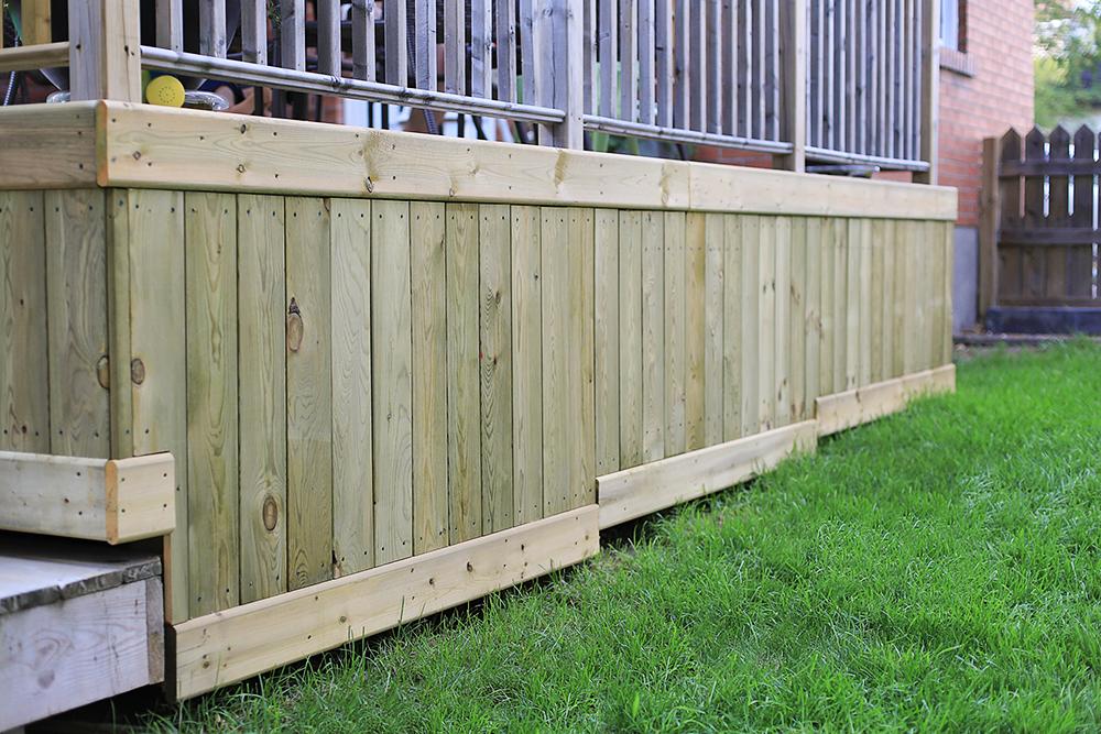 Deck skirting joy studio design gallery best design for Wood skirting