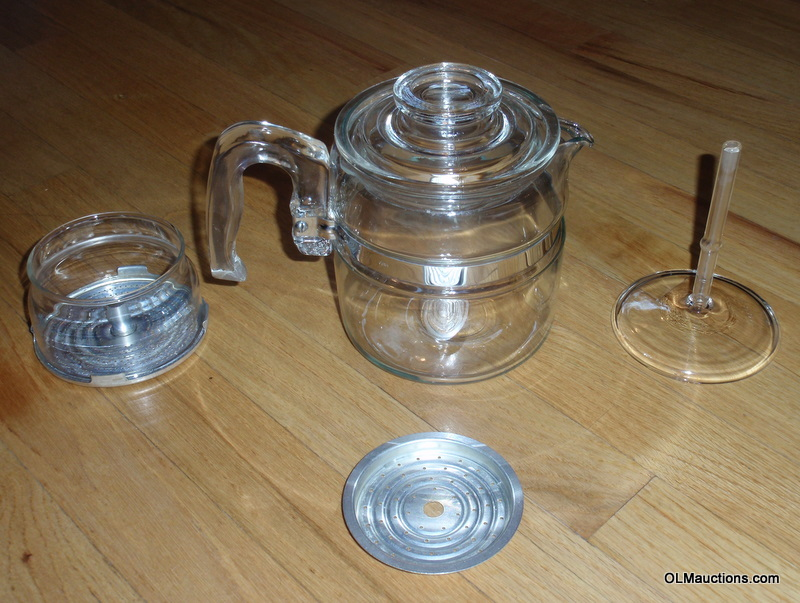 Internet Superstores: Pyrex Glass 4 Cup Coffee Percolator Pot 7754 B