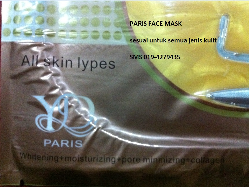 Collagen face mask promosi
