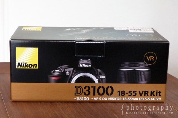 Nikon D3100 18-55mm VR Verpackung