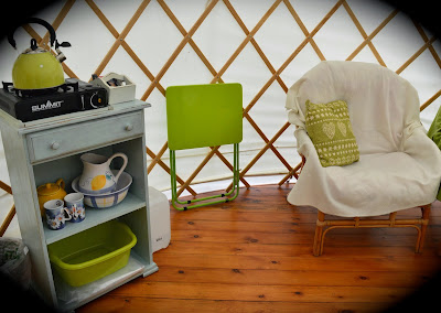 Acorn Glade - glamping in Yorkshire, inside Daisy Yurt