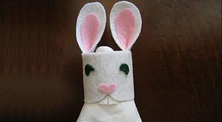 Como Hacer Servilleteros Para Pascua, Diseño Conejo