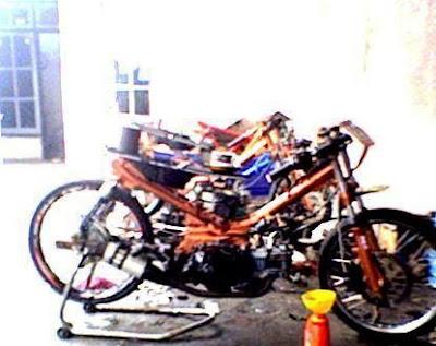 Motor Drag Jupiter Z - Full Bore up Yamaha Jupiter Z