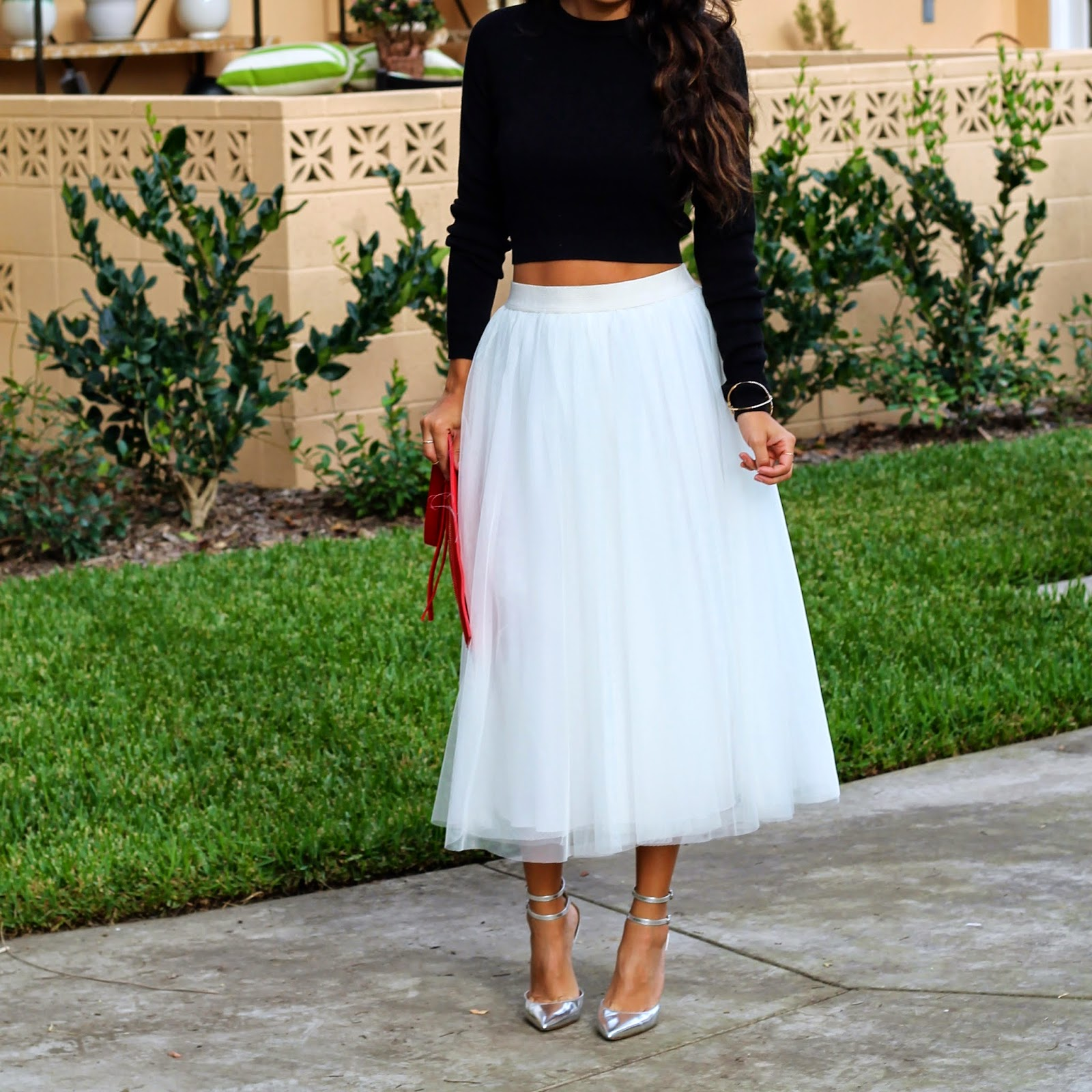 what to wear for Christmas, Holiday Style, Tulle Skirt, Ballerina Skirt Outfit