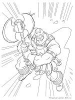 Halaman Mewarnai Gambar Tokoh Karakter Film Thor