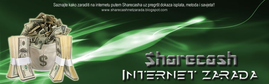 Sharecash Internet Zarada - Metode, Dokazi isplate, Tutorijali