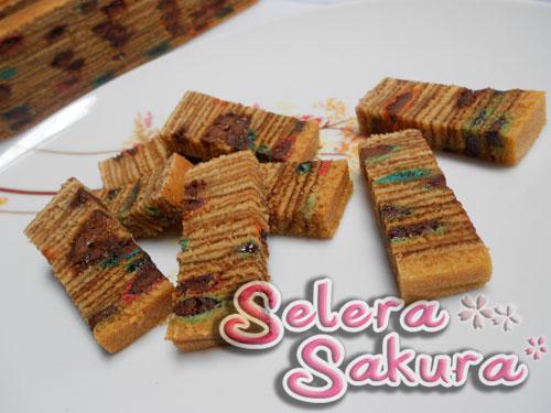 Kek Lapis M&M versi Selera Sakura