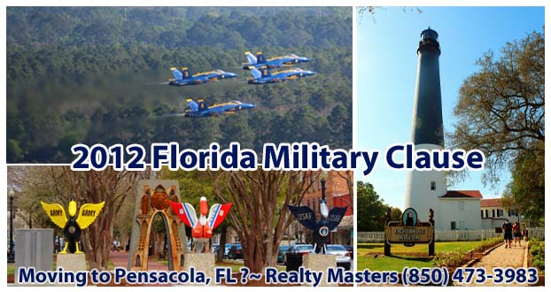 Landlord Tenant Military clause FL statutes