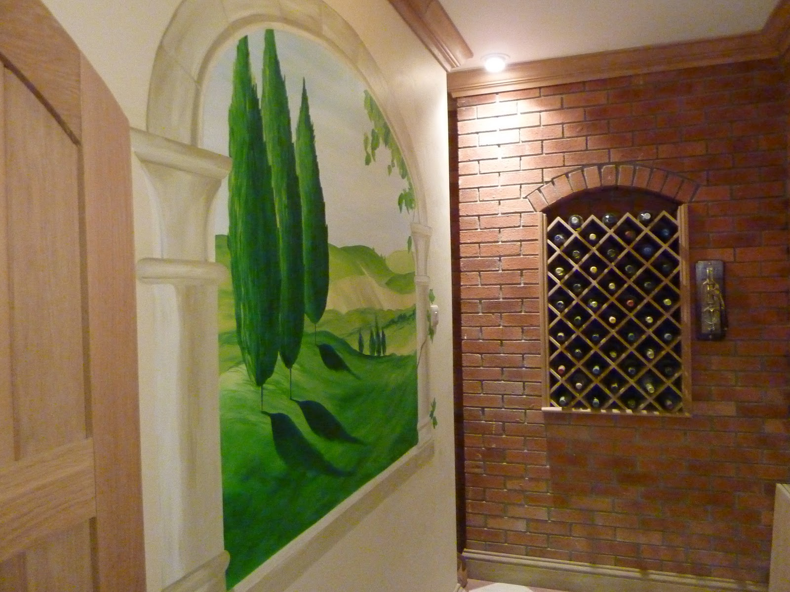 Joanna perry top mural artist hand painting murals across the not to sample some of the lovely wines while creating my tuscany vista wall mural please may i add all the wines were left untouched i promise amipublicfo Image collections