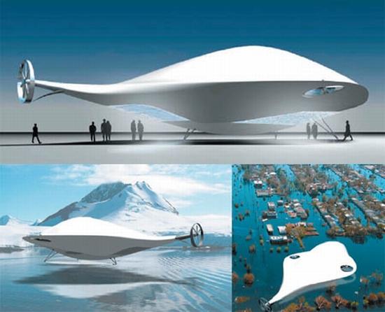 Futuristic transport airship