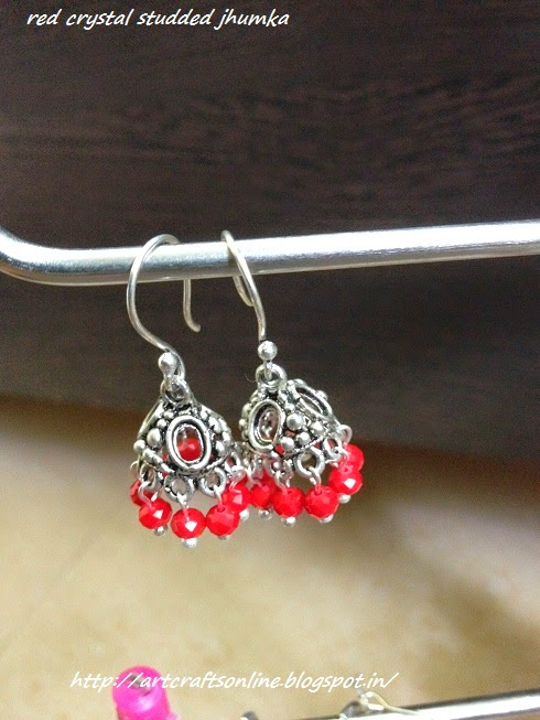 lovely red jhumka