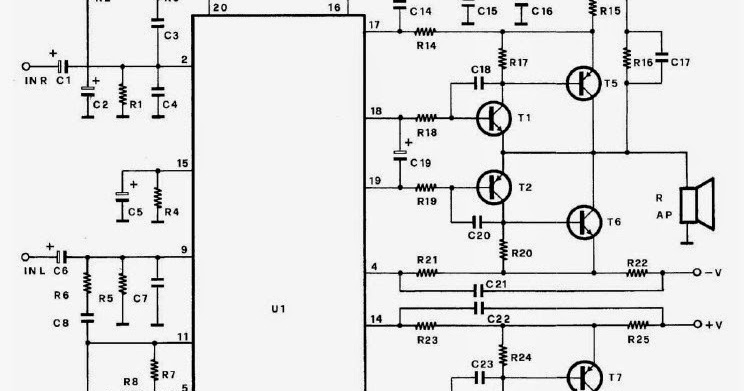 100w amplifier with transistor 2n3055 and mj2955