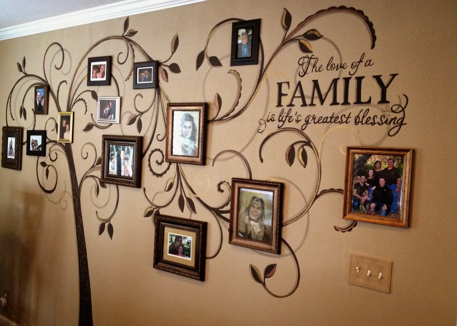 gallery for gt family tree wall mural stencil